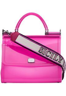 Dolce & Gabbana Bolsa Tiracolo Sicily - Rosa