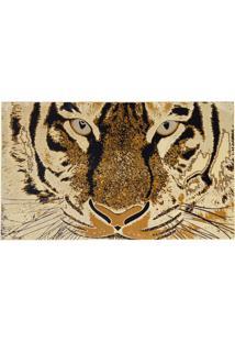 Tapete Retangular Veludo Marbella Epic Art Tigre Creme 148X200 Cm
