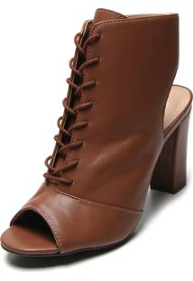 Ankle Boot Via Uno Liso Caramelo