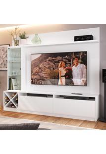 Rack Com Painel Para Tv Até 65 Polegadas 3 Portas 2020 Bac Branco - Quiditá Móveis