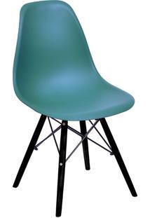 Cadeira Com Base Preta 1102-Or Design - Azul Petróleo
