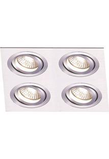 Spot Embutir De Alumínio Ecco 5Cmx34Cmx34Cm Bella Iluminação Alumínio