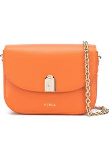 Furla 1927 Logo Print Shoulder Bag - Laranja