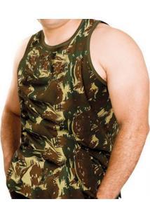 Camiseta Regata Atacado Militar Camuflada