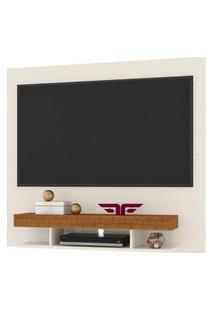 Painel Home Suspenso Para Tv Até 47/50 Polegadas Clean Off White/Coral - Frade Movelaria