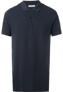 Versace Collection Camisa Polo Clássica - Azul