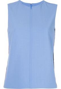Victoria Victoria Beckham Blusa Sem Mangas - Azul