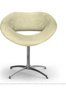 Cadeira Beijo Areia Poltrona Decorativa Com Base Giratória