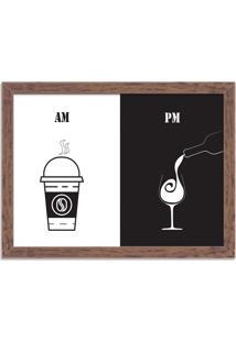Quadro Decorativo Am Café Pm Vinho Madeira - Grande
