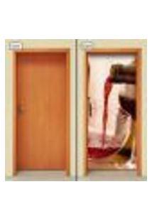 Adesivo Decorativo De Porta - Vinho - 1264Cnpt