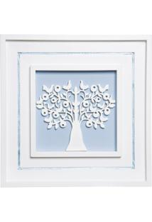 Quadro Árvore Da Vida Príncipe Potinho De Mel Azul