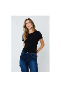 T-Shirt Feminina Ladies First Preta