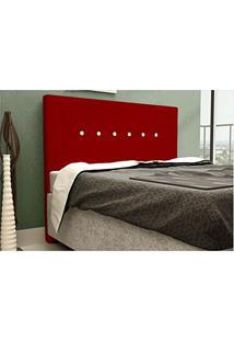 Cabeceira Vegas Para Cama Casal Box 140 Cm Suede Amassado Vermelho - Js Móveis