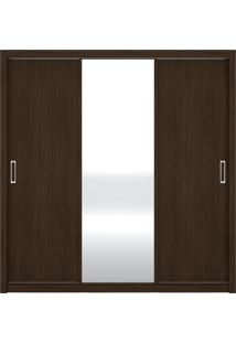 Guarda Roupa 3 Portas Residence Ébano Demóbile - Tricae