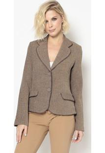 Blazer Com Recortes- Marrom- Cotton Colors Extracotton Colors Extra