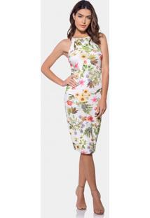 Vestido Com Alças Mídi Malha Fleur - Lez A Lez