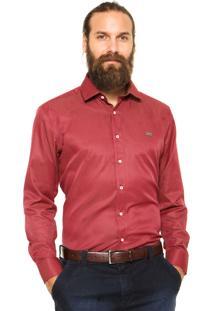 Camisa Mr. Kitsch Poá Vinho
