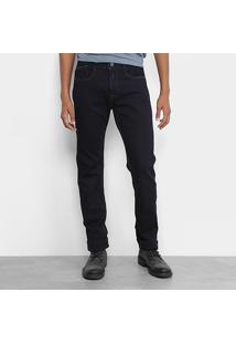 Calça Jeans Reta Replay Escura Masculina - Masculino