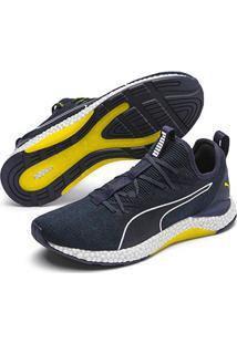Tênis Puma Hybrid Runner Masculino - Masculino-Verde+Amarelo