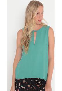 Blusa Com Recorte- Verde- Colccicolcci