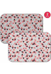 Jogo Americano Love Decor Multi Triângulos Cinza/Rosa - Kanui