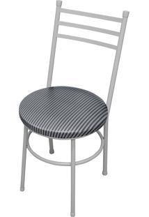 Cadeira Vittoria Branco/Tick Listras Açomix