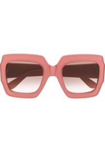 "Gucci Eyewear Ã""Culos De Sol Oversized Gg - Rosa"