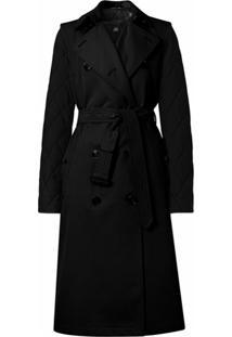 Burberry Trench Coat Com Mangas Removíveis - Preto