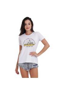 Camiseta Basica Joss Good Time Branca