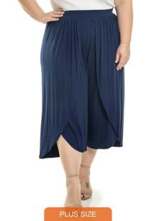 Calça Pantacourt Stylish Azul