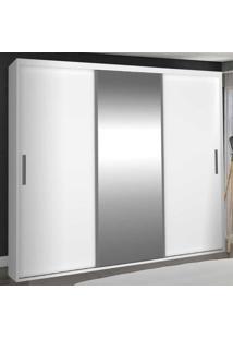 Guarda-Roupa Casal 3 Portas De Correr Com 1 Espelho 100% Mdf 1985E1 Branco - Foscarini