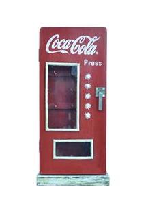 Porta Chave Urban Coca Cola Madeira Fridge Réplica Com Vidro