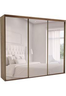 Guarda-Roupa Casal Com Espelho Luminum L 3 Pt 6 Gv Ébano