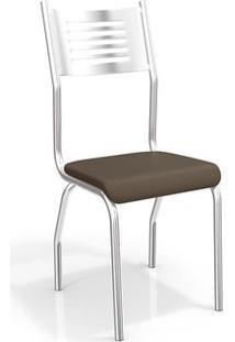 Cadeira Kappesberg Munique 2C047Cr (2 Uni) Cromado/Marrom