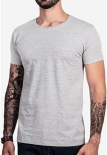 Camiseta Hermoso Compadre Básica Mescla Escuro Mas - Masculino-Cinza