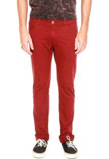 Calça Sarja Coca-Cola Jeans Skinny Vermelha