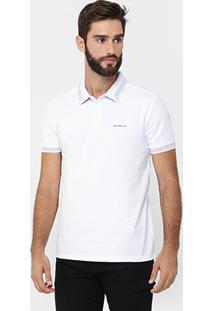 Camisa Polo Calvin Klein Piquet Frisos - Masculino