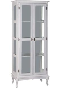 Cristaleira 2 Portas Com 3 Prateleiras Maciças -Tommy Design