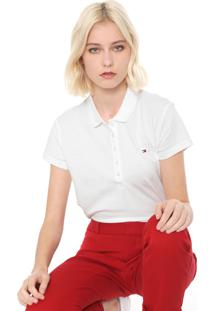 Camisa Polo Tommy Hilfiger Slim Chiara Off-White