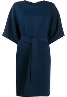 P.A.R.O.S.H. Waist-Tied Mini Dress - Azul