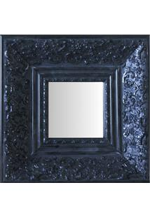 Espelho Moldura Rococó Fundo 16151 Preto Art Shop