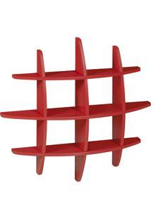 Prateleira Decorativa Média Taylor 598 Vermelho - Maxima