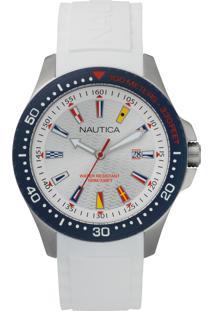cf0a8ca2eb6 Vivara. Relógio Nautica Masculino Branco Napjbc001 Borracha -