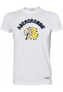 Camiseta Abercrombie Masculina Indian Branca