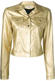 Liu Jo Cropped Fitted Jacket - Dourado