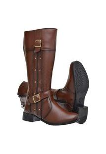 Bota Montaria Mr Try Shoes Cano Alto Longo Marrom