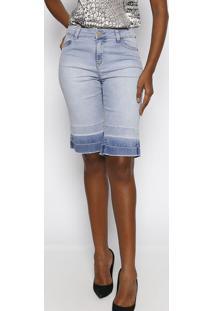 Bermuda Jeans Estonada - Azul Claroscalon
