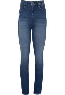 Calça Le Lis Blanc Paula Skinny Blue Jeans Azul Feminina (Jeans Médio, 44)
