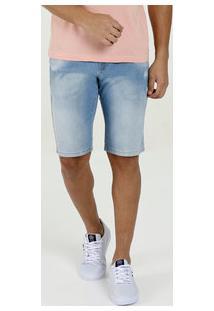 Bermuda Masculina Jeans Puídos Bolsos Rock & Soda
