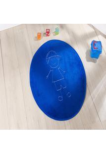Tapete Formato Feltro Antiderrapante ÍTalo Azul Royal - Multicolorido - Dafiti